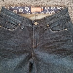 Paige Jeans Sz 25 Hillside Denim Dark Blue 25x34
